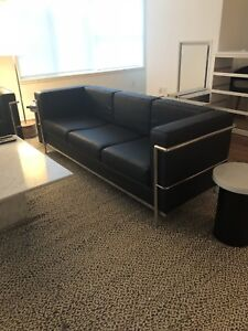 Le Corbusier Style Couch and Loveseat