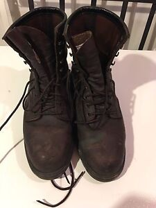 Steel toe boots - size 8