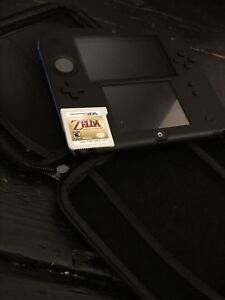 Neon Blue Nintendo 2DS w Mario Kart 7 + Ocarina of Time + Case