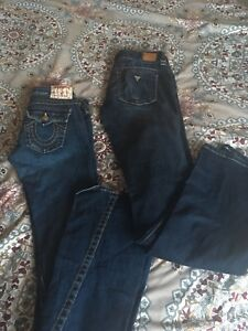 TRUE RELIGION & GUESS JEANS
