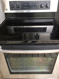 Lg stainless, glass top oven range