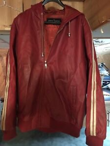 Stacey Adams red leather jacket xl