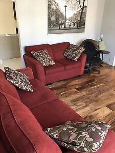 Beautiful red couches MADE IN CANADA