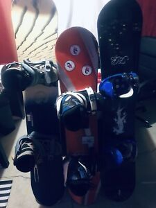 Snow boards boots nbindings