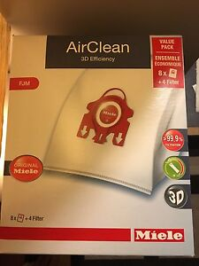 Miele FJM vacuum bags and filters