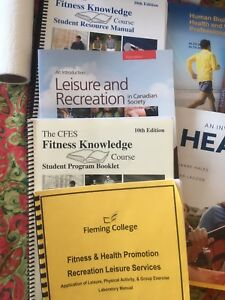 College first semester textbooks FHP