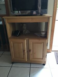 Microwave stand,light wood