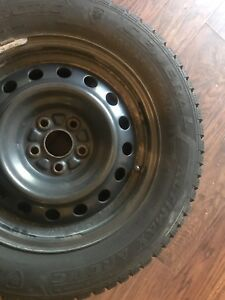 195/65R15 Studded Winter Tires on Rims (4)