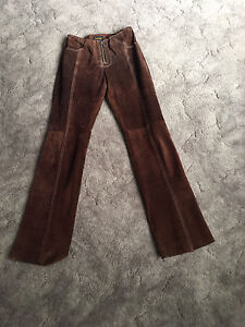 Reduced - Ladies Genuine Suede Leather Pants Narwee Canterbury Area Preview