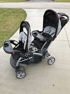 Sit 'n stand double stroller