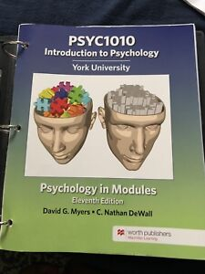 Looseleaf edition of psych 1010 introspecific York u psych intro