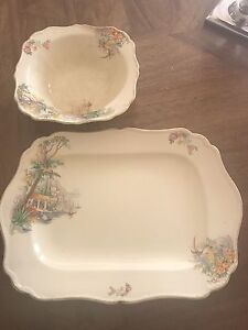 J & G Meakin Platter and Serving Bowl Crawley Nedlands Area Preview