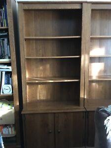 Beautiful oak coloured bookcases. $50 each