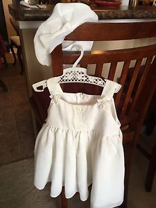 Baptism/Christening Dress and Matching Hat