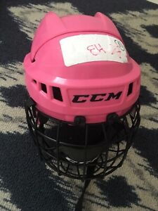 Girl hockey helmet
