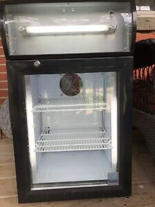 Mini fridge with glass door