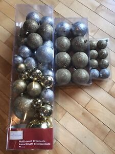 BRAND NEW- Silver and gold Xmas balls