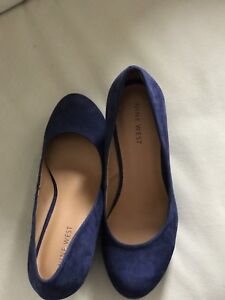 Nine west blue suede shoes and brown tall boots for sale