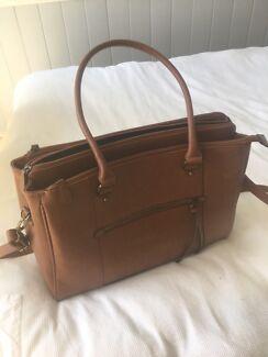 Laura Jones Leather Laptop Bag