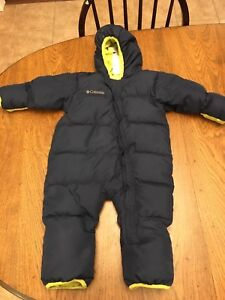 One piece Columbia toddler snowsuit. 24 months size.