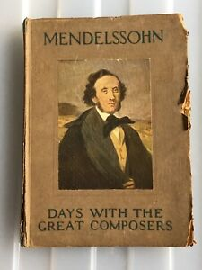 Antique Mendelssohn hardcover book