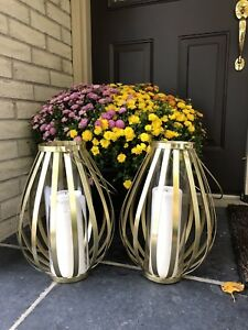 Anthropologie Gold Lanterns (16 in total)