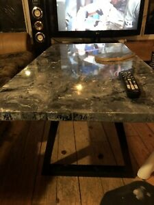 Marbled large coffee table