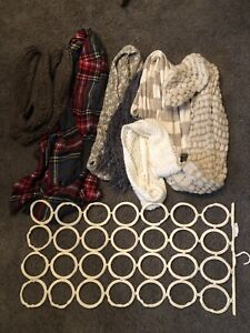 Scarves and scarf hanger