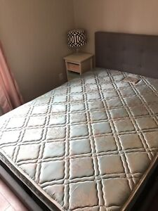 Queen mattress and boxspring (headboard and frame not for sale