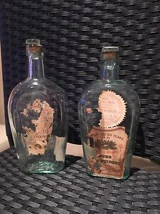 Antique Pure brand whiskey bottles