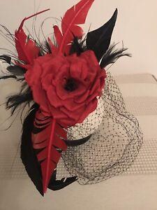 ab39bddb Ann Boyle red and black fascinator | Accessories | Gumtree Australia ...