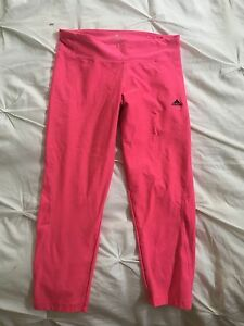 Adidas neon pink crop leggings