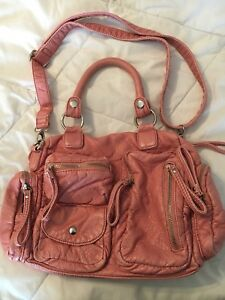 Soft leather pink purse