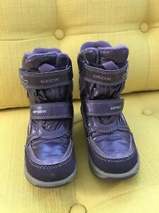 Geox toddler girl winter boots size 8.5