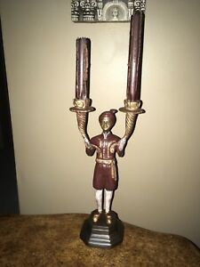 "Candlestick holder 12""high bought at Elte Furniture store"