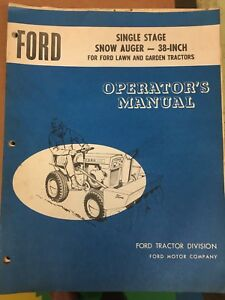 Ford snow auger manual
