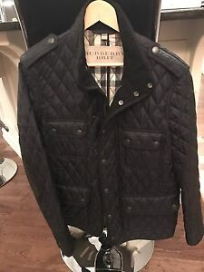 Burberry jacket quilted men's
