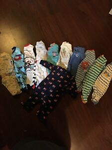 Boys sleepers 0-3 month lot #1