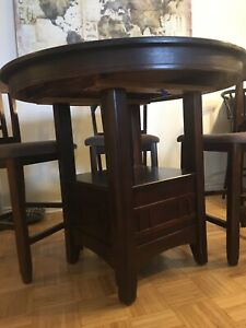 Kitchen table set with four chairs
