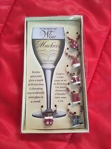 Christmas themed wine glass tags