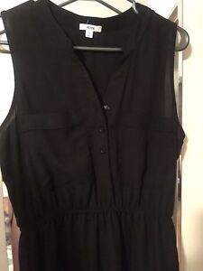 Woman's black dress