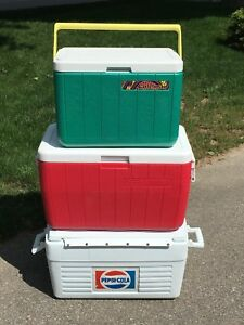 Coolers - Coleman and vintage Pepsi