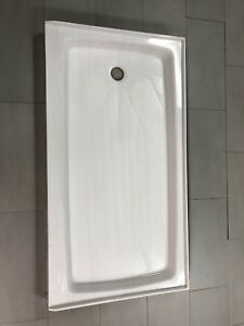 New cultured marble shower base