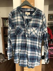 Women's blue flannel shirt