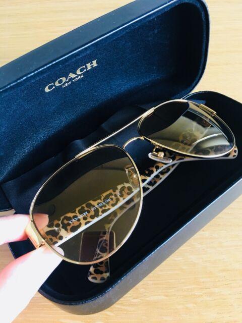 db27fa35a483 Coach HC7059 Sunglasses (Gold Ivory Wild Beast) Authentic ...