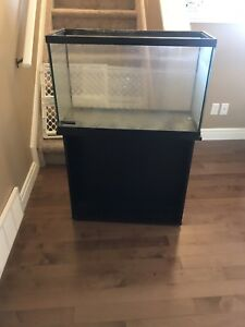 29 gallon fish tank, stand also comes with hanging filter
