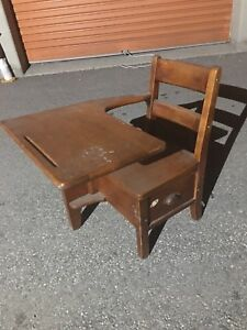 Children's Antique School Desk