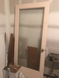 used entry door with glass