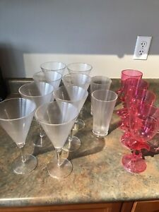 Outdoor plastic wine goblets and tumblers
