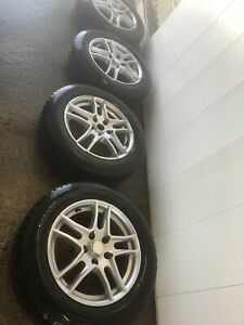 winter tires with alloy rims (215/60R16)